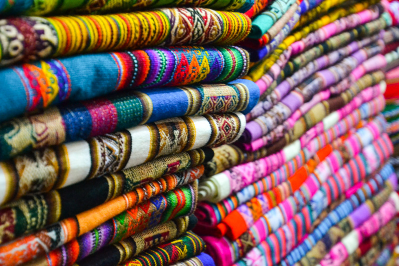 Textiles and more textiles in the village market