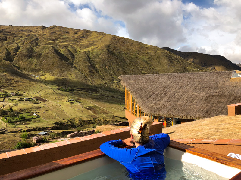 Soaking in the views at Hucahuasi Lodge