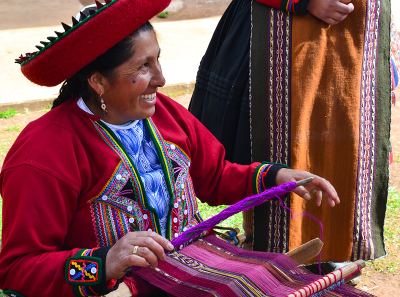 Master weaver in the Quechuan village of Chinchero