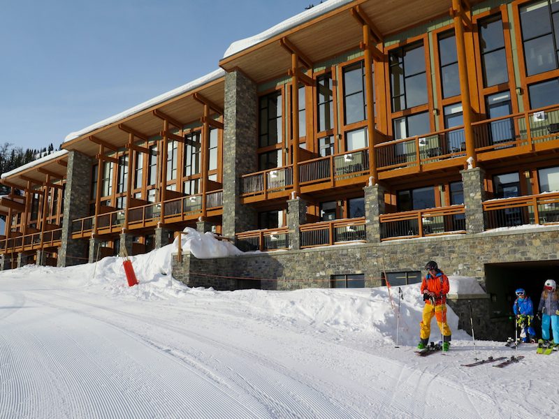 Sunshine Mountain Lodge offers true ski-in/out access