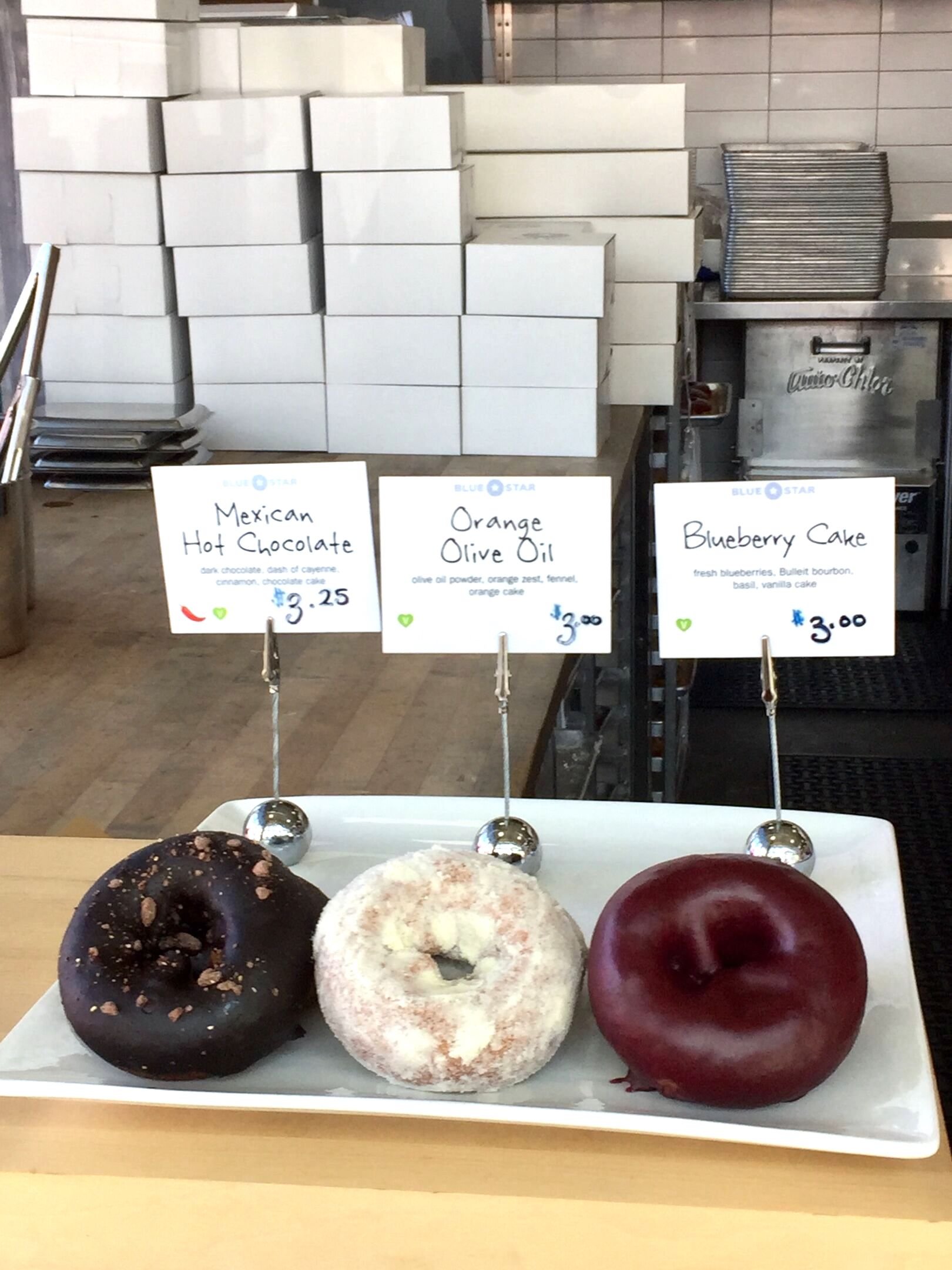 Blue Star Donuts offers unique flavors of artisan donuts