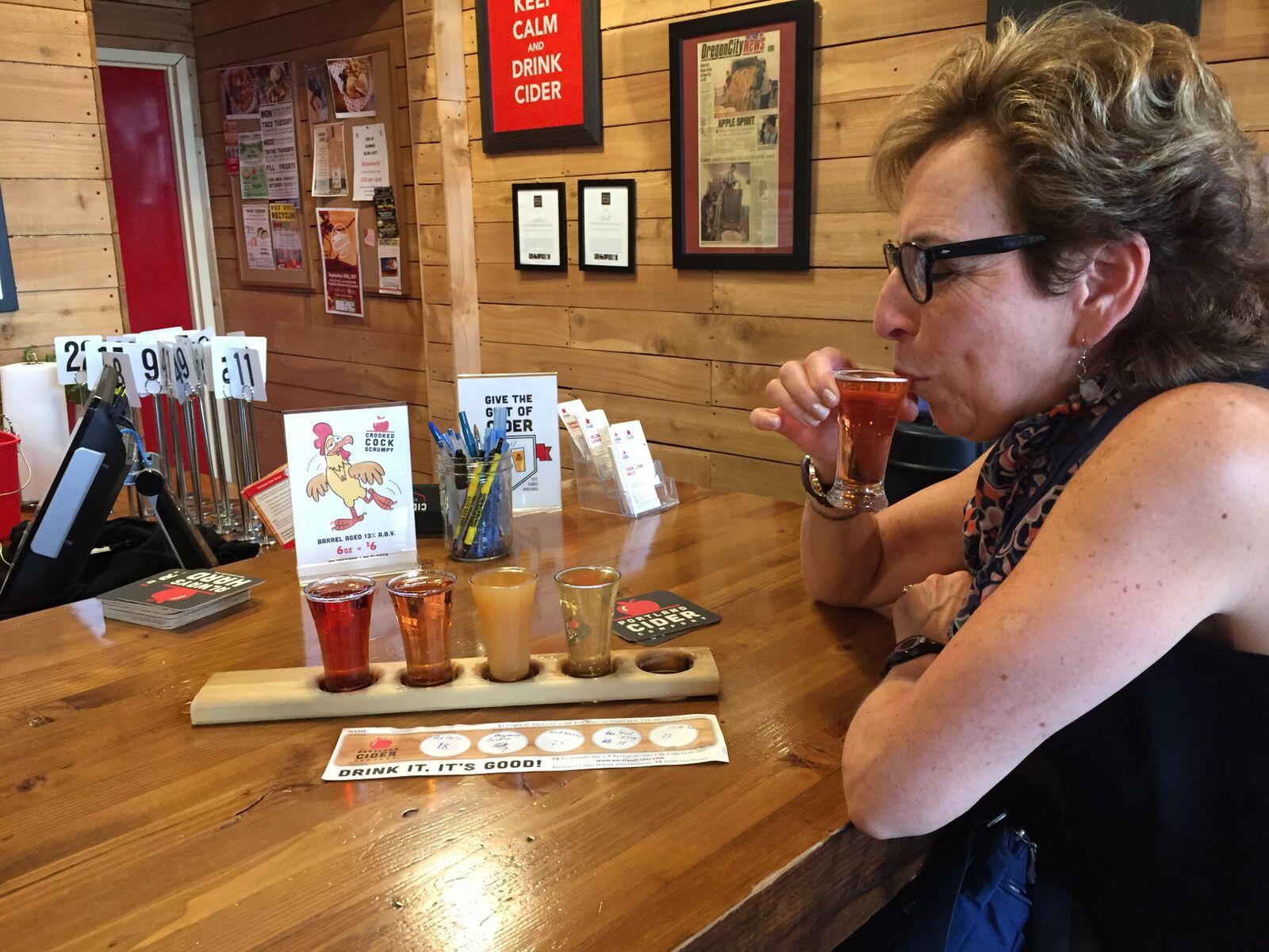 Enjoy a flight of cider at Portland Cider Company.