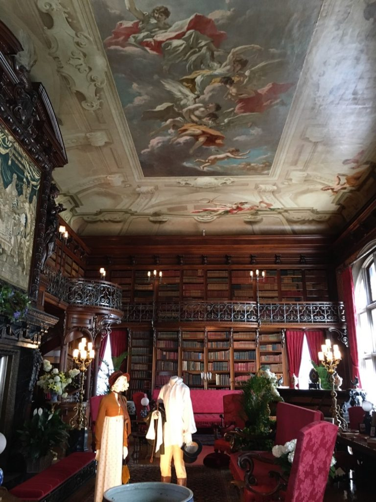 Ceiling of the Biltmore House Library (Credit: Kathy M. Newbern)