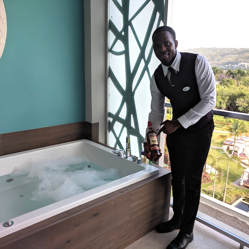 Have your own foam party on your deck, ask your butler to draw you a bath!
