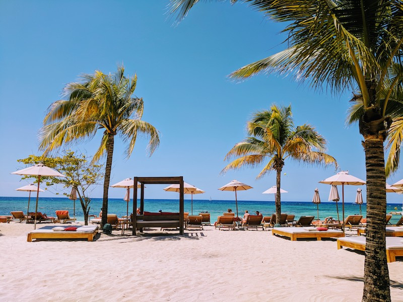 Plenty of places to find peace and solitude on the beach at Breathless Montego Bay