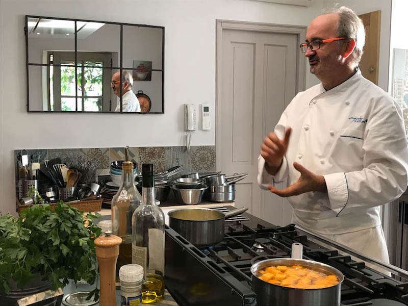 Chef Jean-Marc Villard teaches Provençal cooking in his own home kitchen