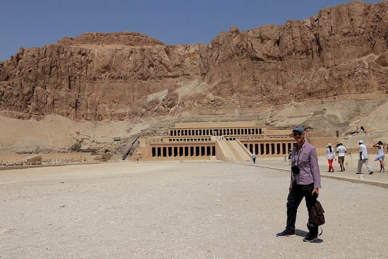 Len Rutledge at the Hatshepsut Temple