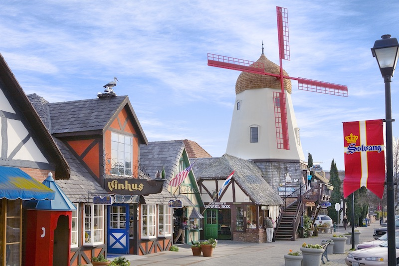 Windmill shops in Solvang, California