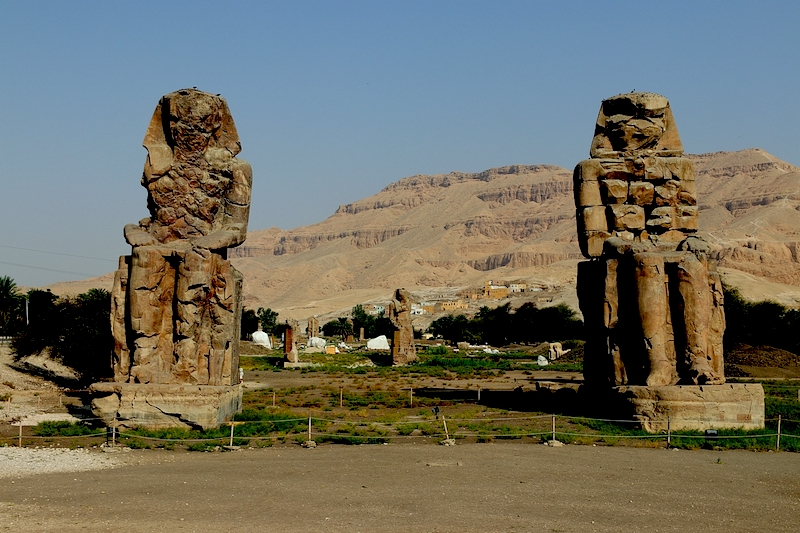 The Colossi of Memnon on the West Bank
