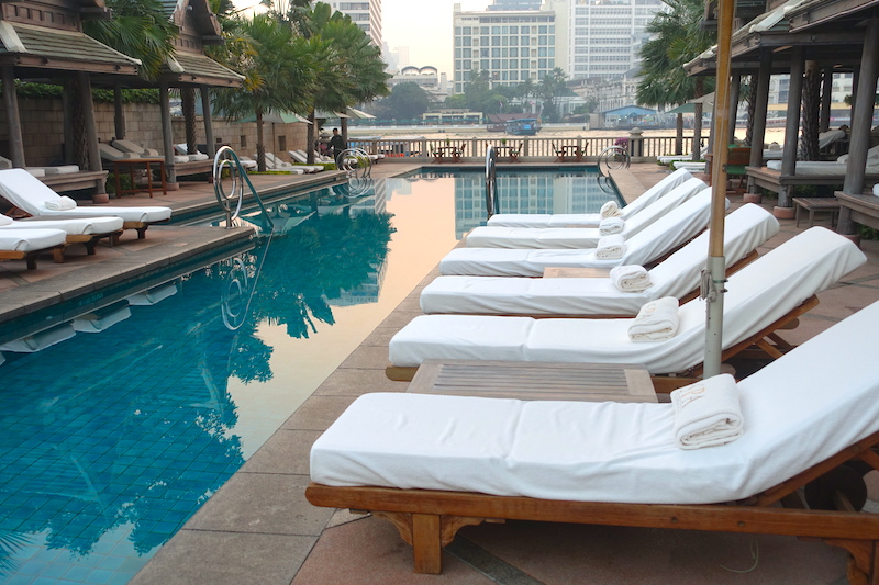 Poolside at the Bangkok Peninsula