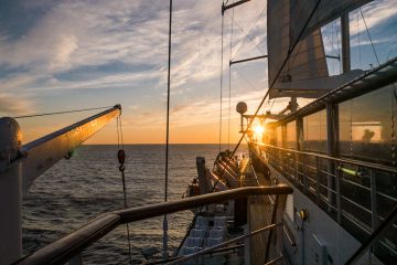 Sunset on Windstar's Wind Surf (Credit: Anita Breland)