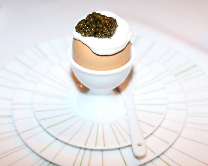 Egg caviar at Jean-Georges