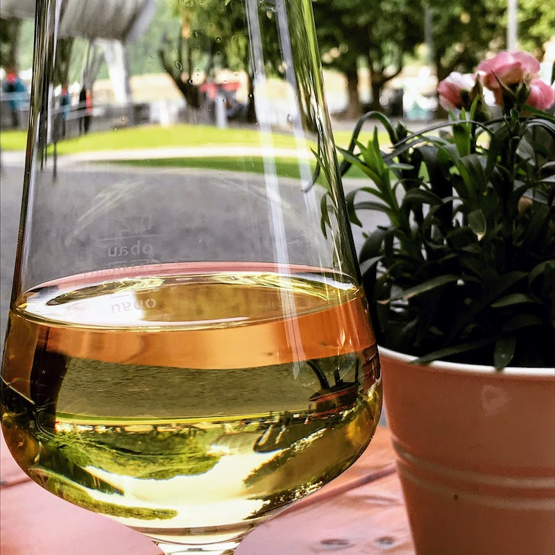 Chilled glass of local Riesling (Credit: Jerome Levine)