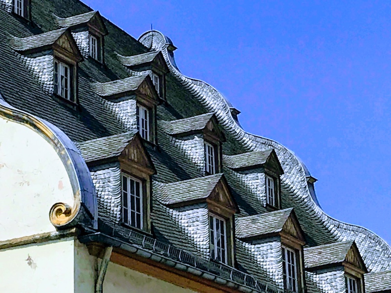 Unusual roofline of the old synagogue in Koblenz (Credit: Jerome Levine)