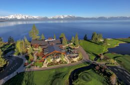 Aerial view of Edgewood Tahoe