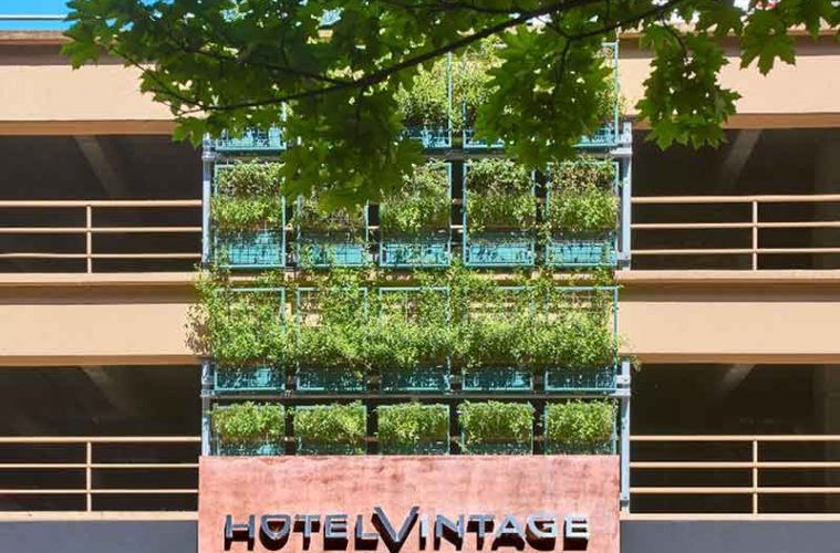 Hotel Vintage Seattle, one of 66 boutique hotels in 35 cities that are part of the Kimpton brand. (Photo courtesy of Kimpton Hotels)