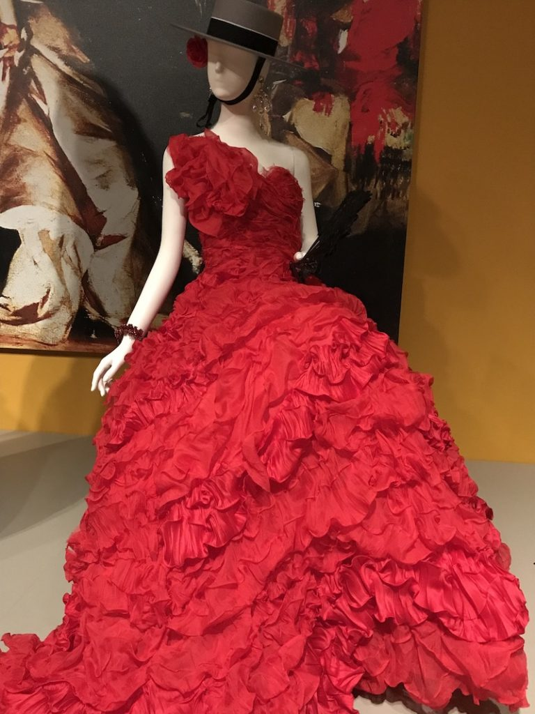 Vogue magazine featured Beyoncé wearing this fiery-red gown on its cover.