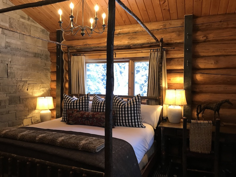Our uber-comfortable cabin at Lone Mountain Ranch