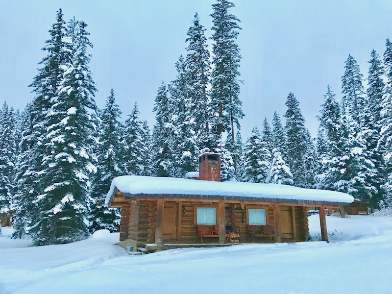 Lone Mountain Ranch cabins in winter