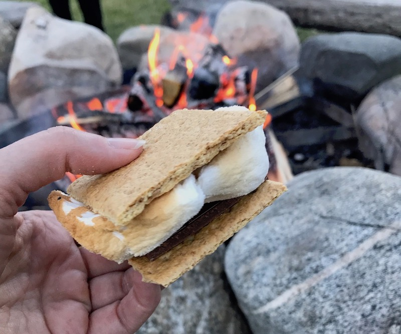 S'mores over the fire