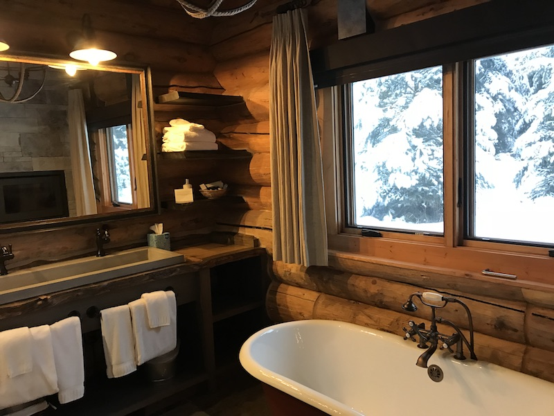 Soaking tub at Lone Mountain Ranch