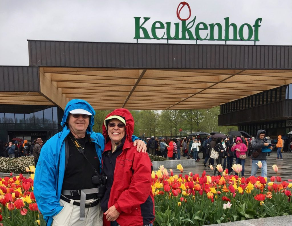 The authors at Keukenhof (Photo by Susan R. Pollack)