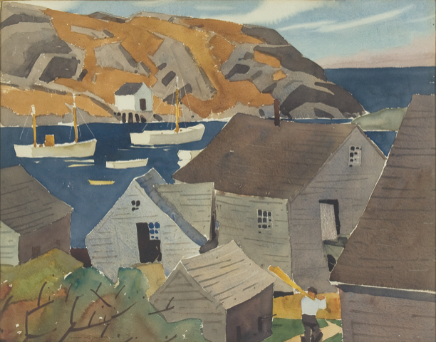 The Monhegan Museum and affiliated Fitzgerald Legacy own many works by James Fitzgerald.