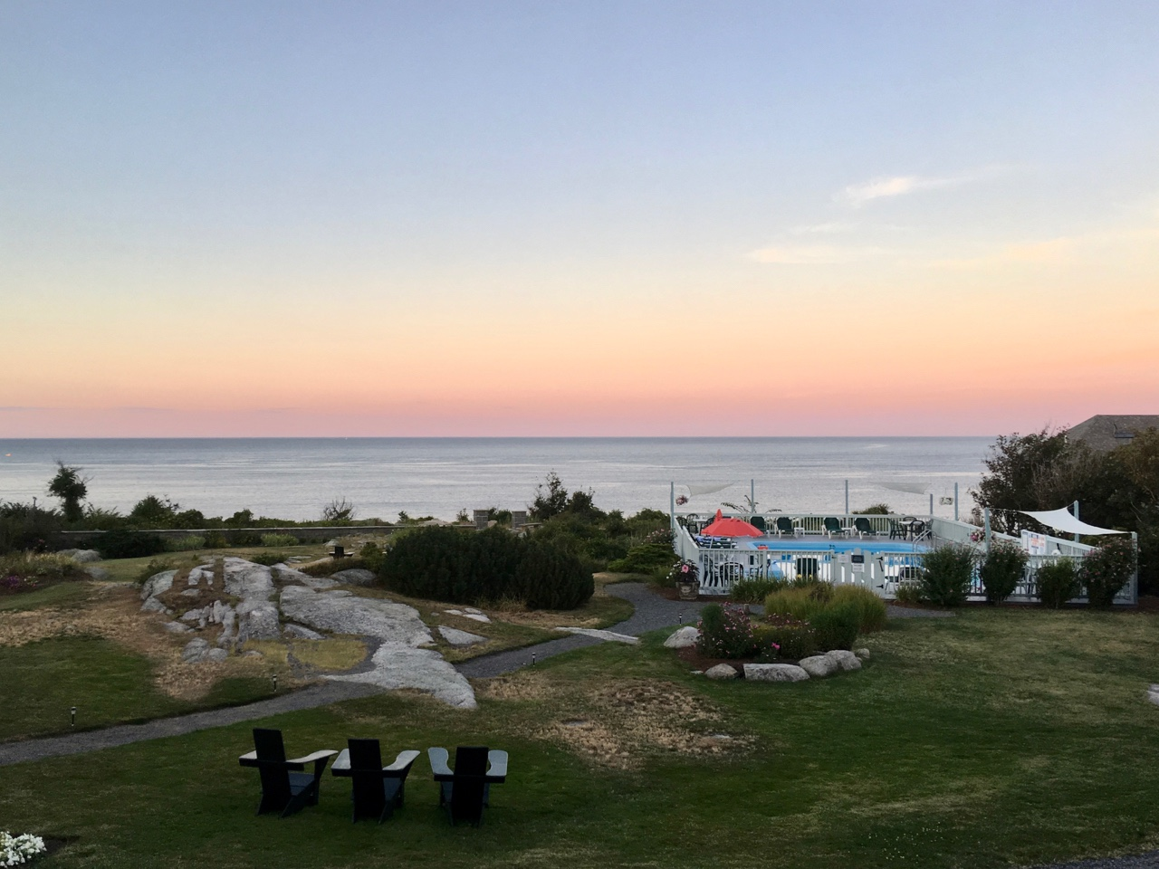 Amenities at the Emerson Inn by the Sea include an outdoor heated pool, a restaurant, and gorgeous views.