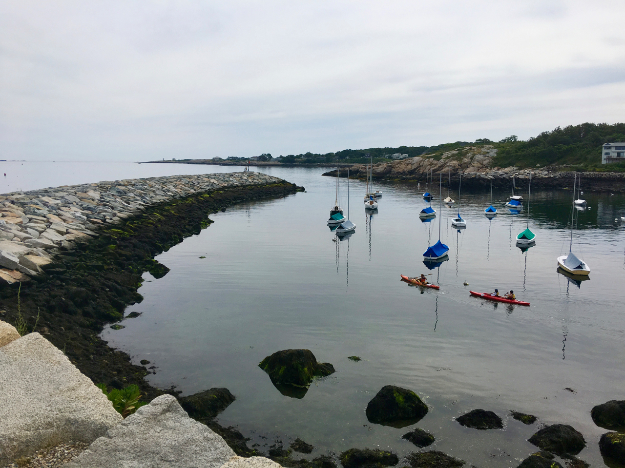 Sea kayaking and whale watching are popular activities when visiting Rockport, Mass. on Cape Ann.