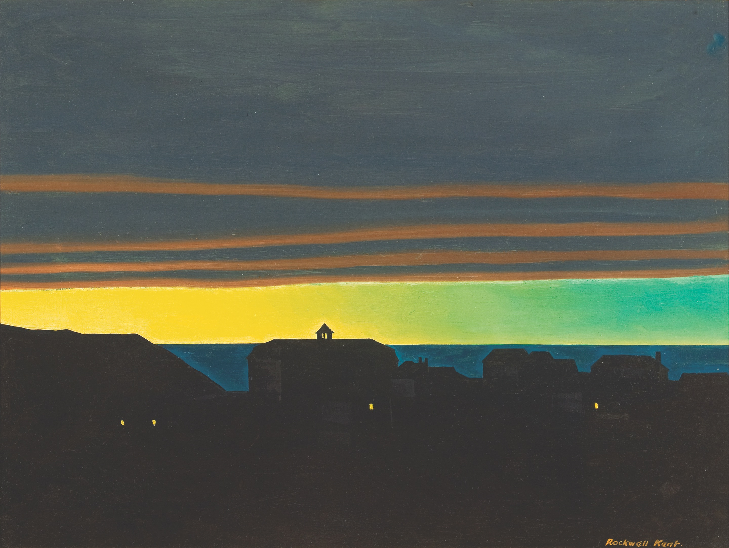 Rockwell Kent painted on Monhegan Island, Maine