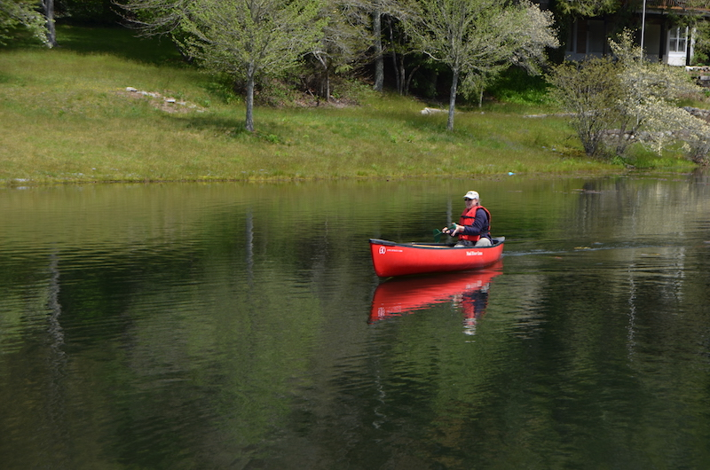 Kathy canoes