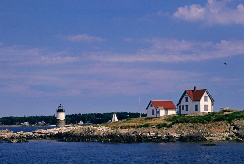 Coastal homes in Maine