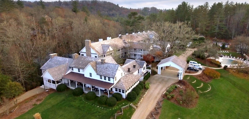 Aerial view of Half-Mile Farm (Credit: Old Edwards Hospitality Group)