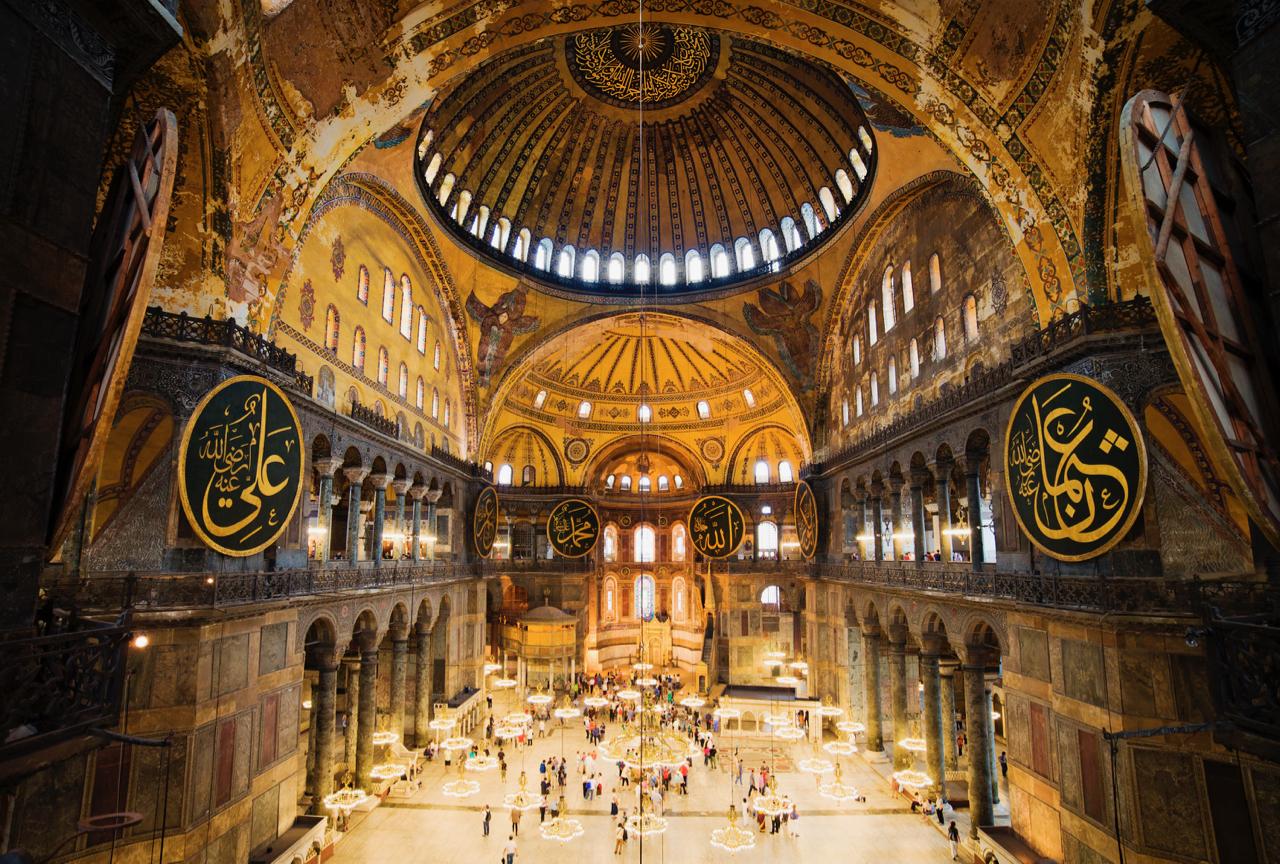 Hagia Sophia's mosaics are masterpieces.