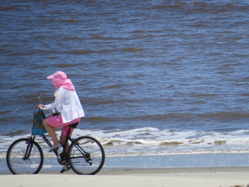 Bicycling is popular on the Island and the hard packed beaches