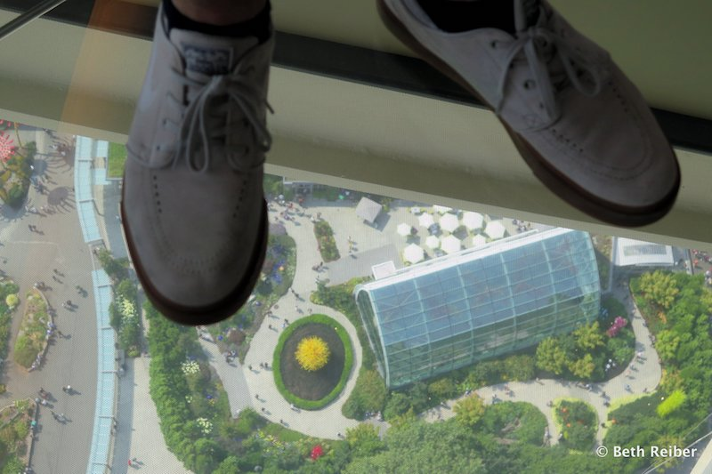 Glass floor in the Seattle Space Needle (Credit: Beth Reiber)