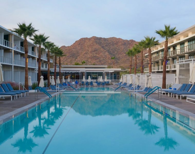 Back to back pools are part of The Century Club at Mountain Shadows resort.