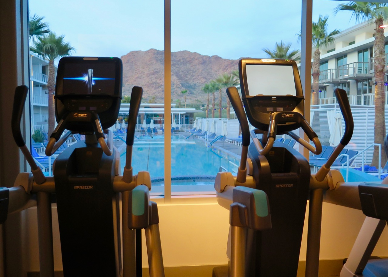 Arizona's Mountain Shadows resort lets you workout with a view.