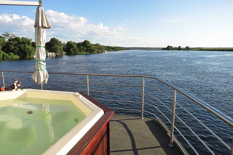 Relaxing on the Chobe River - Luxury Safari Cruise on the Chobe River