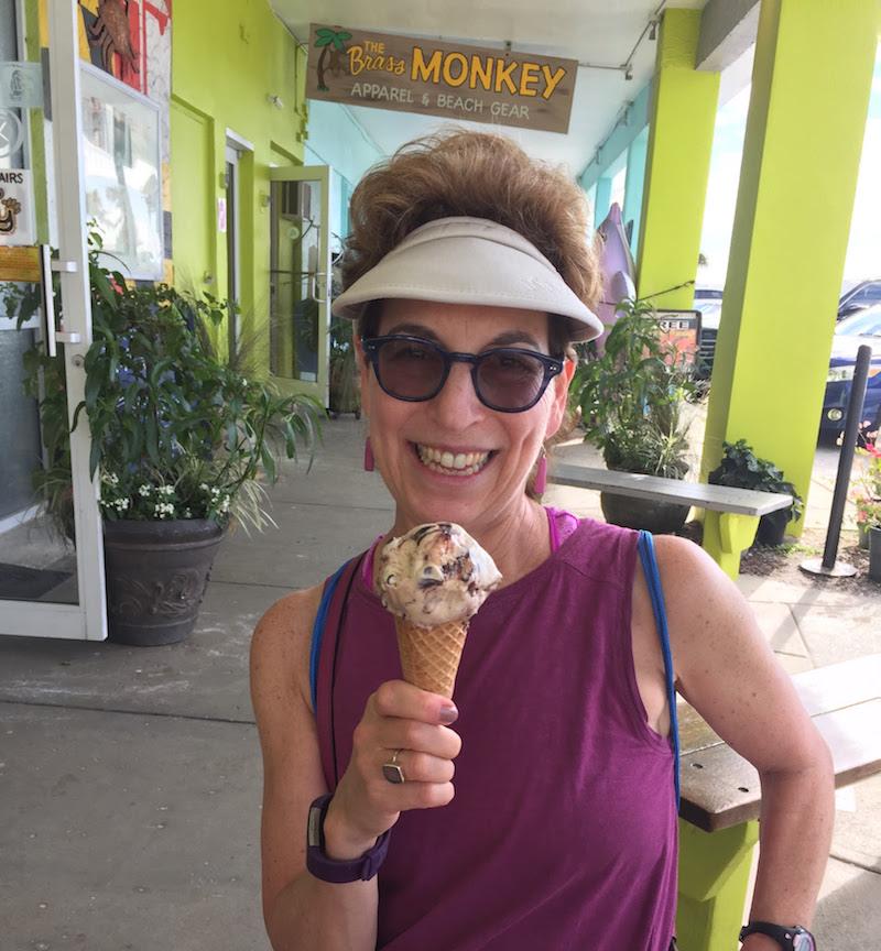 Enjoying yummy ice cream