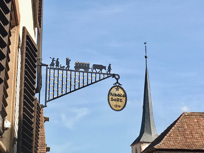 A domaine sign in Alsace