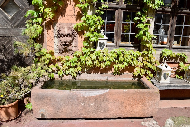 Entry courtyard at Domaine Albert Seltz, a passionate winemaker in the Alsace Region