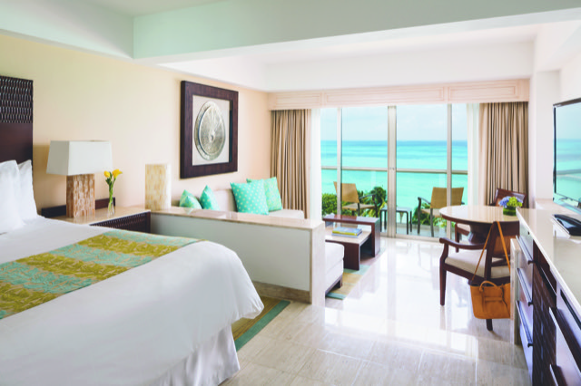 Every room is a suite at this luxury beachfront Cancun resort.