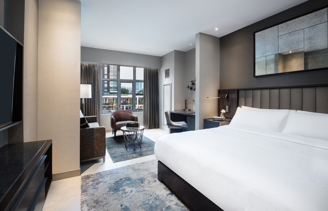Guestrooms are nicely decorated and have sitting areas at this Boston hotel
