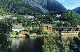 A scenic fjord on my Scandinavian Viking Cruise