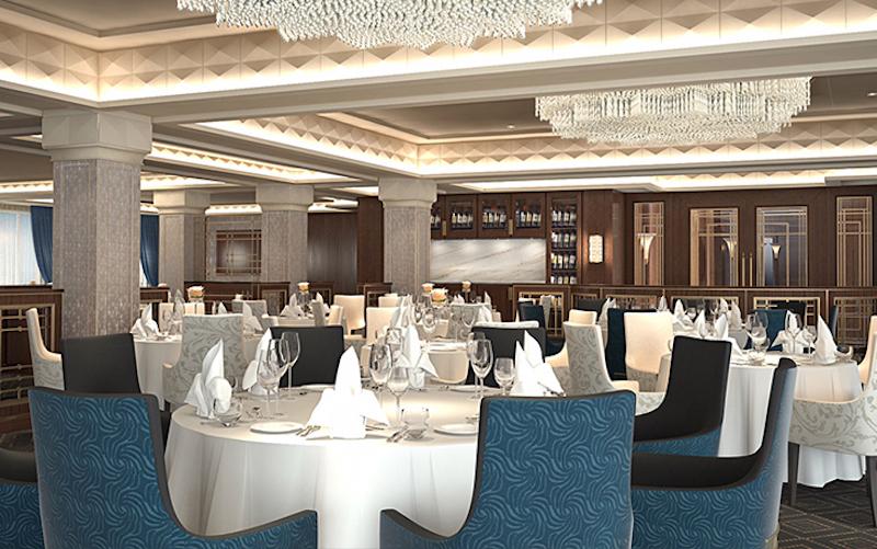 Compass Rose Dining Room on Regent Seven Seas Navigator (Credit: Regent Seven Seas Cruises)