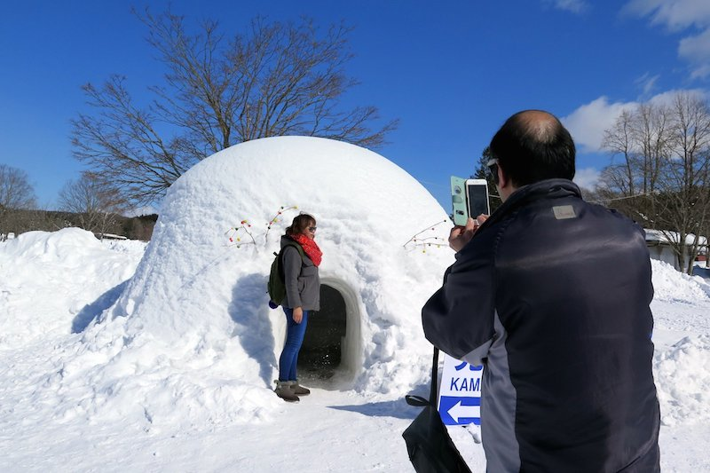 Igloo dining at Iwate Snow Festival