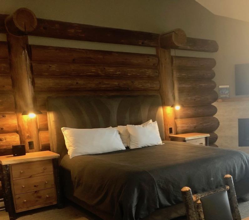 King bed in Oceanview Deluxe Studio Tigh-Na-Mara Seaside Spa Resort