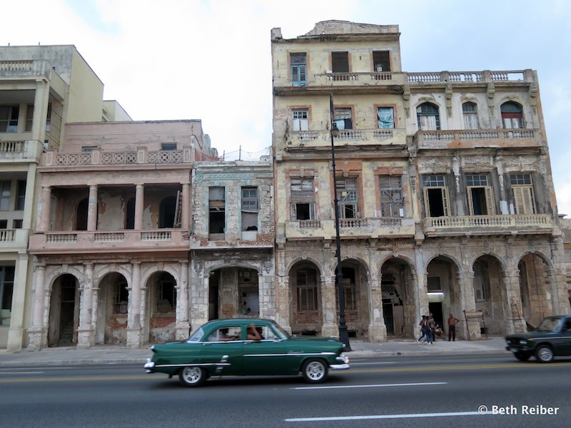 Abandoned buildings on The Malecón
