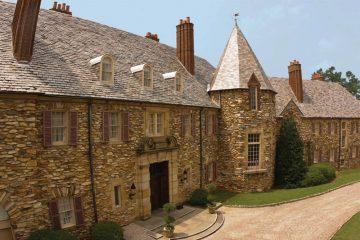 Graylyn, designed in the Norman Revival style, boasts a distinctive fieldstone veneer. (Photo credit: Graylyn)